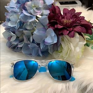 NEW! Blue And Clear Sunglasses
